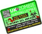 ZOMBIE HUNTER LICENCE Funny VINYL Car Van Bumper Window Sticker Decal JDM  - Green 125x85mm